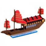 Brixies-58481 Nano Puzzle 3D - Drakar Viking (Level 5)