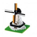 Brixies-58654 Nano Puzzle 3D - Moulin à Vent (Level 1)