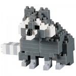 Brixies-58660 Nano Puzzle 3D - Raton Laveur