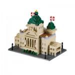 Brixies-58717 Nano Puzzle 3D - Bundeshaus Schweiz (Level 4)