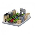 Brixies-58735 Nano Puzzle 3D - Avenue Des Champs-Elysées (Level 3)