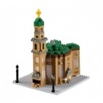 Brixies-58755 Nano Puzzle 3D - Frankfurter Paulskirche (Level 4)