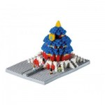 Brixies-58782 Nano Puzzle 3D - Temple du Ciel (Level 3)