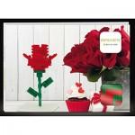 Brixies-58815 Puzzle 3D - Carte Postale Rose