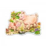 Puzzle  Castorland-015016 Le Porcelet et sa Mère
