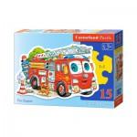 Puzzle  Castorland-015078 Camion de Pompier