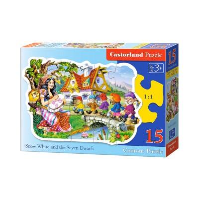 Puzzle Castorland-015085 Blanche Neige et les Sept Nains
