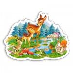 Puzzle  Castorland-015115 Petites Biches