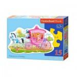 Puzzle  Castorland-015122 Princesse dans son Carrosse