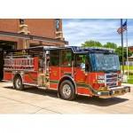 Puzzle  Castorland-018352 Camion de Pompier