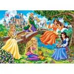 Puzzle  Castorland-018383 Princesses au Jardin