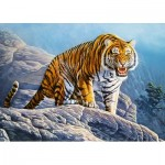 Puzzle  Castorland-018451 Tiger on the Rock