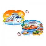 Puzzle  Castorland-020102 Pièces XXL - Sea Adventures