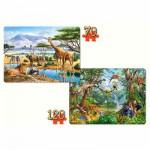 Castorland-021031 Puzzles 70 à 120 pièces : Les animaux de la jungle