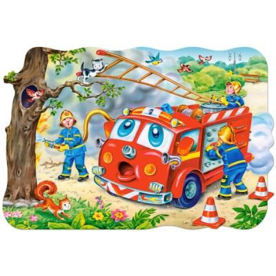 Puzzle Castorland-02146 Pièces Maxi - Brigade des pompiers