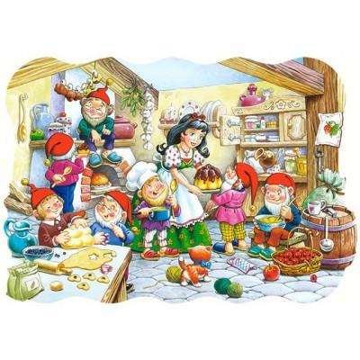 Puzzle Castorland-02207 Pièces Maxi - Blanche neige et les 7 nains
