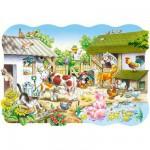 Puzzle  Castorland-02214 Pièces Maxi - La ferme
