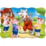 Puzzle  Castorland-02399 Pièces XXL - Les 3 Petits Cochons