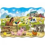 Puzzle  Castorland-02429 Pièces XXL - Animaux de la Ferme