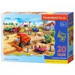 Puzzle  Castorland-02436 Pièces XXL - Travail à la Ferme
