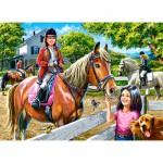 Puzzle  Castorland-030095 Equitation
