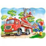 Puzzle  Castorland-03358 Le Sauvetage du Chaton