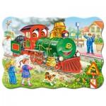 Puzzle  Castorland-03433 Locomotive Verte