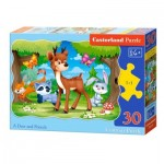 Puzzle  Castorland-03570 A Deer and Friends