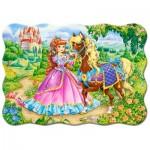 Puzzle  Castorland-03617 La Princesse et son Cheval