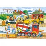 Castorland-040018 Maxi Puzzle : Chantier de construction