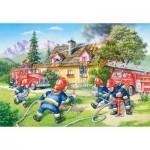 Castorland-040025 Maxi Puzzle : Les pompiers en action