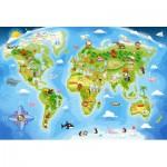 Puzzle  Castorland-040117 Pièces Maxi - Carte du Monde