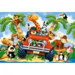 Puzzle  Castorland-040131 Pièces XXL - Peluches en Safari