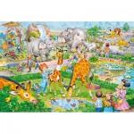 Puzzle  Castorland-040179 Pièces XXL - Zoo