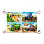 Puzzle  Castorland-041039 Pièces XXL - Machines agricoles