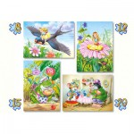 Castorland-04270 4 Puzzles - Contes et Légendes