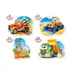 Puzzle  Castorland-043040 Pièces XXL - Véhicules de Construction