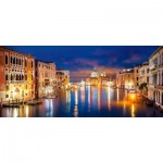 Puzzle  Castorland-060245 The Grand Canal by Night, Venise