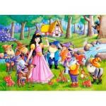 Puzzle  Castorland-066032 Blanche Neige et les 7 Nains