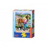 Puzzle  Castorland-06755 Promenade avec le Poney et le Chien