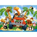 Puzzle  Castorland-06793 Peluches en Safari