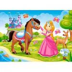 Puzzle  Castorland-06816 La Princesse et son Cheval
