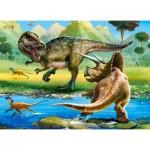 Puzzle  Castorland-070084 Dinosaures