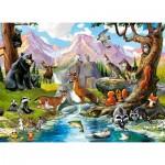 Puzzle  Castorland-070091 Animaux de la Forêt