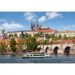 Puzzle  Castorland-102426 République Tchèque, Prague