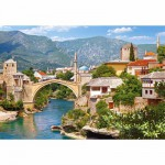 Puzzle  Castorland-102495 Mostar, Bosnie Herzégovine