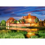 Puzzle  Castorland-103010 Pologne : Château Malbork