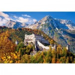 Puzzle  Castorland-103454 Hohenwerfen Castle, Austria