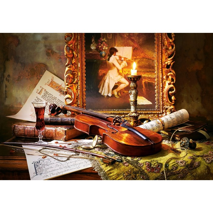 Still Life with Violin and Painting