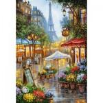 Puzzle  Castorland-103669 Spring Flowers, Paris